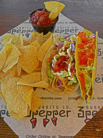 3Pepper Burrito_Hard Shell Beef And Soft Shell Carnitas Tacos